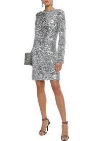 <b>Sonia Rykiel Woman</b> Sequined Tulle Mini Dress Silver | ModeSens ...