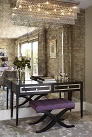 wall desk mirror. Fine Wall A Feature Wall In Antique Mirror Glass Love The Desk U0026 Chandelier U003c3 Throughout Wall Desk Mirror