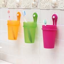 hanging toothbrush toothpaste storage cup holder green bathroom wall mounted