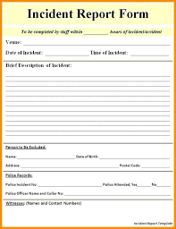 9 How To Write An Incident Report Letter Sample Hazard Form Example