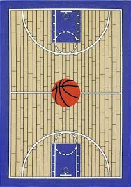 kids basketball court printed carpet area rug blue contemporary kids rugs by furnish my place