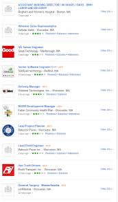 job search site glassdoor since then they ve been sending me a list of suggested jobs in the worcester area the jobs however always a great match