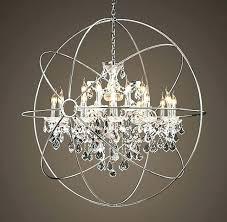 large globe chandelier orb ideas chandeliers image extra large globe chandelier chrome clear