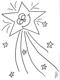 shooting star coloring page.  Star Shooting Star Coloring Page Inside Coloring Page O
