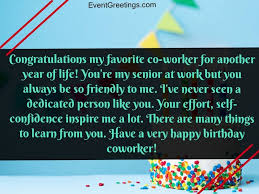70 Touching Birthday Wishes And Messages For Coworker