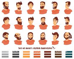 Het Aantal Mannen Kapsels Met Baarden En Snor Gentleman Kapsels En
