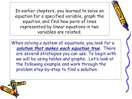 in earlier chapters you learned to solve an equation for a specified variable graph