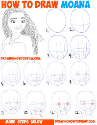 drawing step by step for beginners. Contemporary Step How To Draw Moana Easy Step By Drawing Tutorial For Kids And Beginners With By For