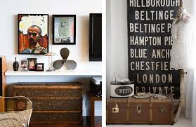 In the two images above, are some other great ideas of using these vintage  streamer trunks. They're wonderful if you're short on storage and they look  ...