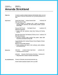 resume resume for bank teller