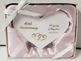 image is loading ganz 60th anniversary gift glazed ceramic heart plaque