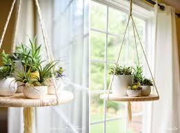 stylish diy hanging rope shelf view in gallery