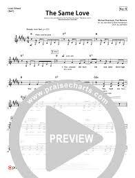 The Same Love Orchestration Paul Baloche Praisecharts