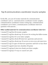 Resume Marketing Communications Coordinator