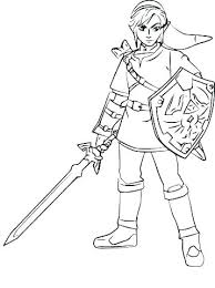Coloring Pages Legend Of Zelda Link Coloring Pages The Half Sleeve