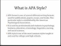 What Is Apa Style Whats A Style Manual And Why Do I Even Have To Use One Ppt Download