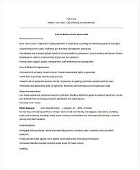 Retail Manager Resume Example Retail Marketing Manager Resume Shannon Resume Examples Resume