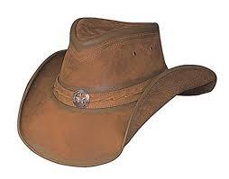 Bullhide Mens Copper Creek Leather Hat 4024