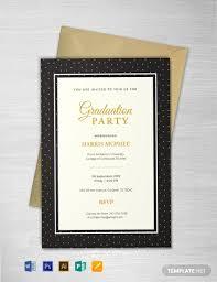 Free Sample Graduation Invitation Template Word Psd