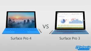 Surface Pro 4 Vs Surface Pro 3 Detailed Spec Comparison