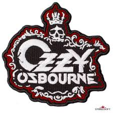 Black sabbath wavy logo ozzy osbourne paranoid ironman rock official mens tshirt. Ozzy Osbourne Embroidered Patch Crown Skull Logo Size 3 5 X 3 4 Inches Embrosoft