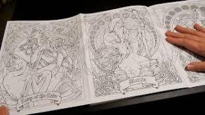 coloring book flip through legend nouveau coloring book by herb leonhard