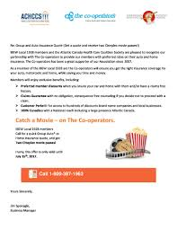 please see the offer below for two complimentary cineplex p from the co operators insurance