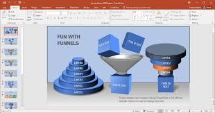 Powerpoint Funnel Chart Template Animated Funnel Blocks Powerpoint Template