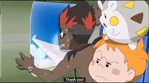 Pokemon Sun and Moon Kiawe is scared of planes English SubsHD - YouTube