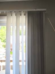 stylish sheer curtains over vertical blinds decor with sew many ways hiding al apartment vertical blinds
