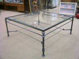 makeover ottoman iron glass coffee table decorations acrylic minimalist stained thin transparance elegant