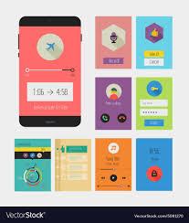 Ux Flat Design Flat Ui Or Ux Mobile Apps Kit