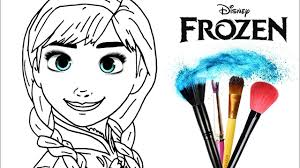 1280x720 how to draw color frozen anna drawing makeup new learning 4