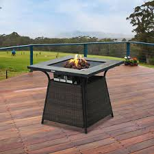 image is loading gaspropanefirepitwickerdesignoutdoorhome wicker fire pit e32