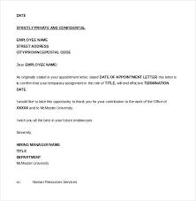 Termination Letter Template Employment Termination Letter Template Dew Drops