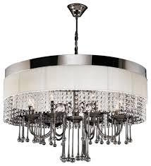 plc lighting elisa 8 light chandelier black chrome