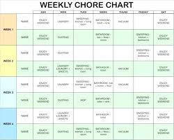 Picture Chore Chart Template