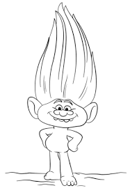 Guy Diamond From Trolls Coloring Page Free Printable Coloring Pages