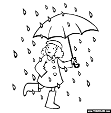Small Picture Rain Rain Go Away Online Coloring Page