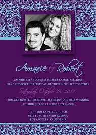 Printable Wedding Invitation Template Psd Photoshop Violet