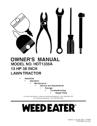 weed eater lawn mower hdt1338a user guide manualsonline com Weed Eater One WE261 Parts at Weed Eater Riding Mower 42 Manual