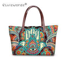 <b>ELVISWORDS</b> Hamsa Fatima Hand Printing <b>Women Handbags</b> ...
