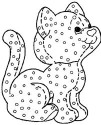Polka Dots Coloring Pages Birthday Printable