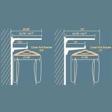 closet rod dimensions standard closet rod height for closet rod diameter standard closet rod unsupported length