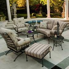 comfortable patio furniture. cream square classic iron comfortable patio furniture stained ideas for durable a