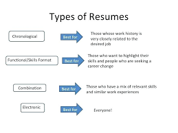 Types Of Resumes Mesmerizing Lovely Type Of Resumes For Your Different Types Resume Formats