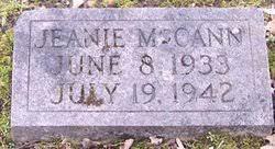 "Jeanne ""Jeanie"" McCann (1933-1942) - Find A Grave Memorial"