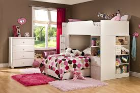 girls twin loft bed with desk