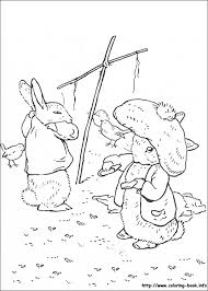 Peter Rabbit Coloring Pages On