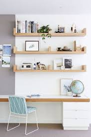 Floating shelf desk Diy Home Office With Floating Shelves And Desk That Matches Comfydwellingcom 31 Floating Shelves Ideas For Your Home Comfydwellingcom